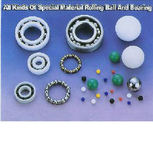 Plastic ball and bearing