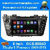 Ouchuangbo car radio gps sat navi Mazda 5 android 4.4 1024*600 resolution