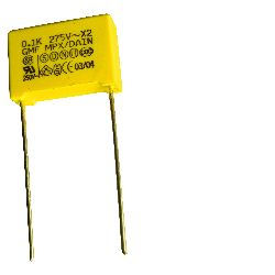 Interference suppression capacitor~Class-X2:MPX,MEX