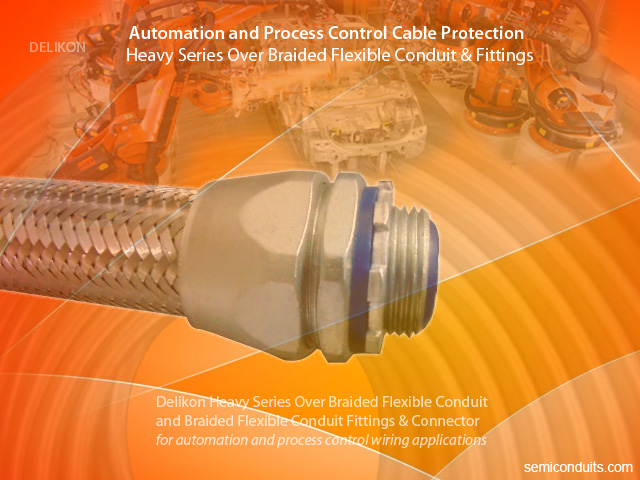 [CN] automotive industry automation Delikon heavy series over braided flexible conduit braided flexible conduit connector for industry automation and process co