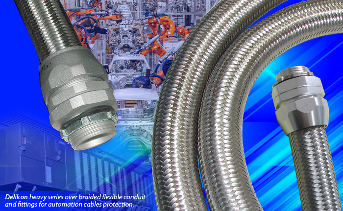 [CN] Automation Delikon Heavy Series Over Braided Flexible Conduit conduit Fittings Provides Perfect Cable Protection Solutions for the Steel Mill Industry auto